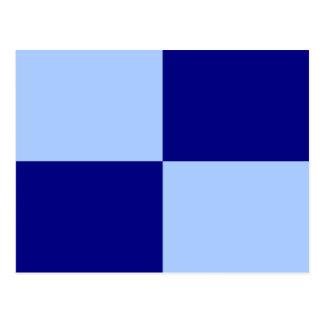 Light Blue and Dark Blue Rectangles Postcard