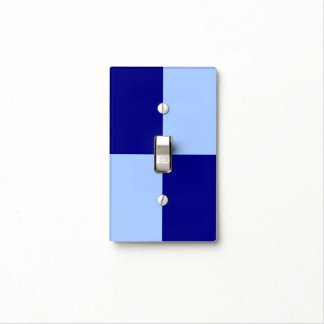 Light Blue and Dark Blue Rectangles Switch Plate Covers