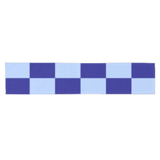 Light Blue and Dark Blue Rectangles Table Runner Short Table Runner