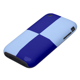 Light Blue and Dark Blue Rectangles Tough iPhone 3 Cover