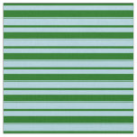 [ Thumbnail: Light Blue and Dark Green Colored Pattern Fabric ]