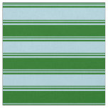 [ Thumbnail: Light Blue and Dark Green Colored Striped Pattern Fabric ]