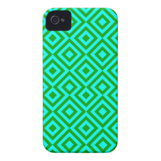 Light Blue And Dark Green Square 001 Pattern Case-Mate iPhone 4 Case