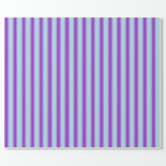 [ Thumbnail: Light Blue and Dark Orchid Pattern Wrapping Paper ]