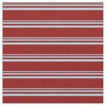 [ Thumbnail: Light Blue and Dark Red Lines/Stripes Pattern Fabric ]