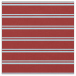 [ Thumbnail: Light Blue and Dark Red Pattern of Stripes Fabric ]