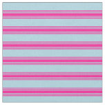 [ Thumbnail: Light Blue and Deep Pink Lines/Stripes Pattern Fabric ]