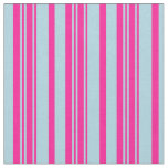 [ Thumbnail: Light Blue and Deep Pink Stripes Fabric ]
