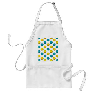 Light Blue and Gold Basketball Pattern Adult Apron