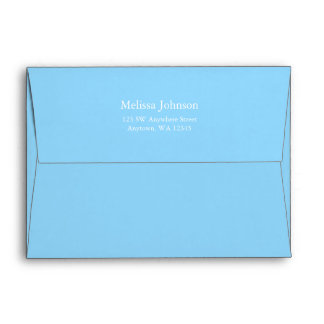 Light Blue and Gray Chevron Return Address Envelope