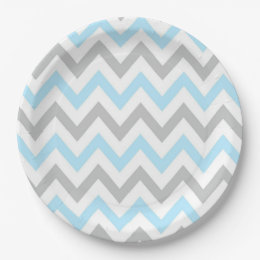 Light Blue and Grey Chevron - Modern Boy Paper Plate  sc 1 st  Zazzle & Pastel Gray Plates | Zazzle