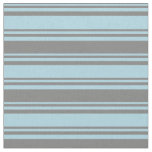 [ Thumbnail: Light Blue and Grey Colored Lines Pattern Fabric ]