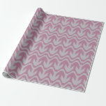 Light Blue and Light Pink Double Wave Pattern Wrapping Paper