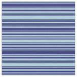 [ Thumbnail: Light Blue and Midnight Blue Lines Fabric ]