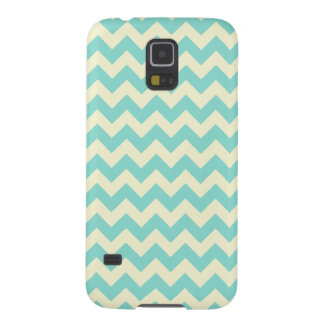 Light Blue and Pale Yellow Zig Zag Pattern Case For Galaxy S5