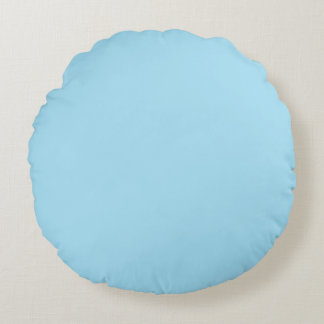 Light Blue and Pink Colors Round Pillow