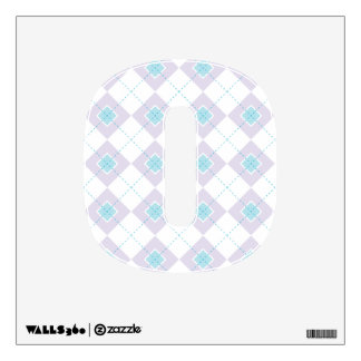 Light Blue and Purple Argyle Wall Decal