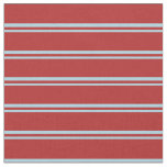 [ Thumbnail: Light Blue and Red Lines Fabric ]