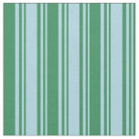 [ Thumbnail: Light Blue and Sea Green Pattern of Stripes Fabric ]