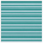 [ Thumbnail: Light Blue and Teal Lines/Stripes Pattern Fabric ]