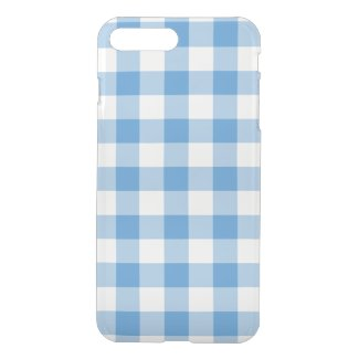 Light Blue and Transparent Gingham Pattern