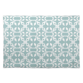 Light Blue And White Art Deco Moderm Pattern Placemat