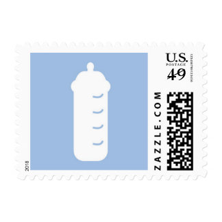Light Blue and White Baby Bottle Stamp