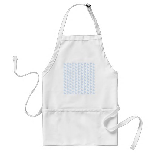 Light Blue and White Baby Stroller Pattern. Adult Apron