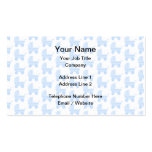 Light Blue and White Baby Stroller Pattern. Business Card