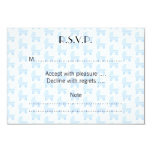 Light Blue and White Baby Stroller Pattern. 3.5x5 Paper Invitation Card