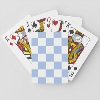 Light Blue and White Checkered Playing Cards