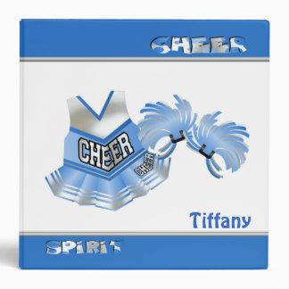 Light Blue and White Cheerleader Binder