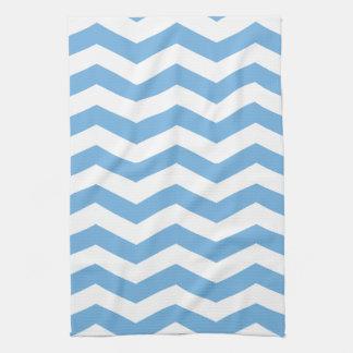 Light Blue and White Chevron Kitchen Towel
