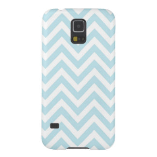Light Blue and White Chevron Stripe Pattern Case For Galaxy S5