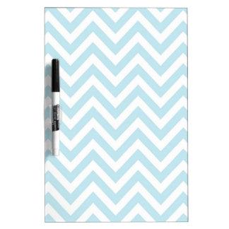 Light Blue and White Chevron Stripe Pattern Dry Erase Board