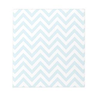 Light Blue and White Chevron Stripe Pattern Memo Notepad