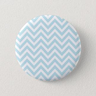 Light Blue and White Chevron Stripe Pattern Pinback Button