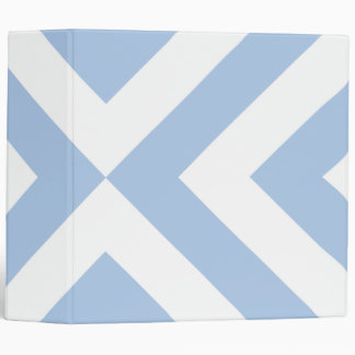 Light Blue and White Chevrons Binder