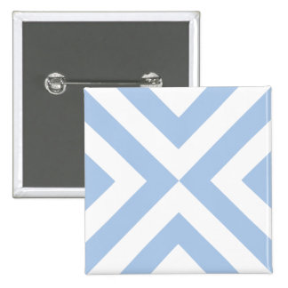 Light Blue and White Chevrons Button