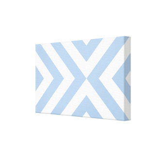 Light Blue and White Chevrons Canvas Print