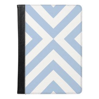 Light Blue and White Chevrons Geometric Pattern iPad Air Case
