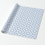 Light Blue and White Chevrons Gift Wrap Paper