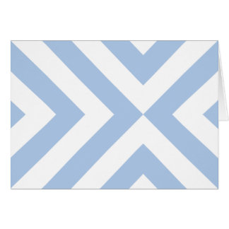 Light Blue and White Chevrons Greeting Card