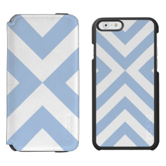 Light Blue and White Chevrons iPhone 6/6s Wallet Case