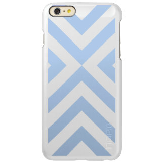 Light Blue and White Chevrons Incipio Feather® Shine iPhone 6 Plus Case