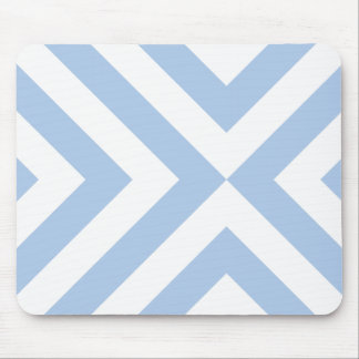 Light Blue and White Chevrons Mouse Pad