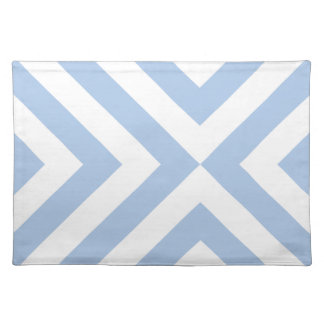 Light Blue and White Chevrons Placemat