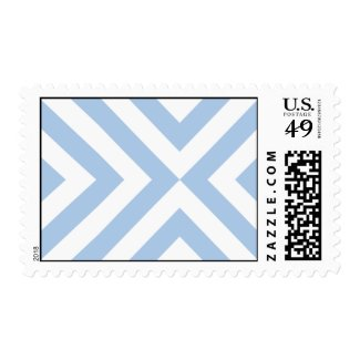 Light Blue and White Chevrons Postage