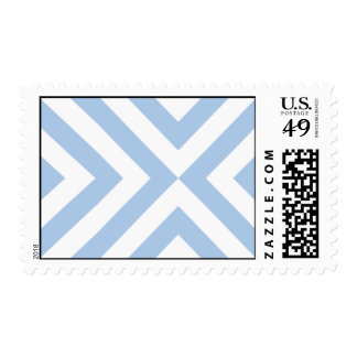 Light Blue and White Chevrons Postage Stamp