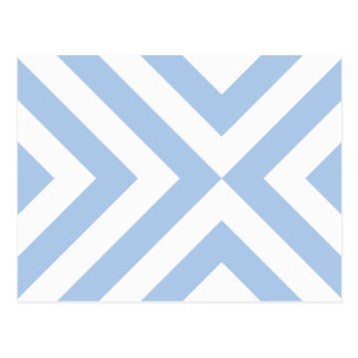 Light Blue and White Chevrons Postcard